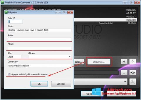 স্ক্রিনশট Free MP4 Video Converter Windows 8.1