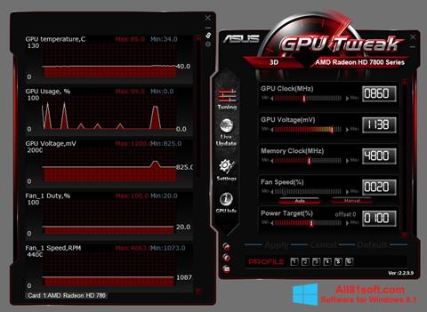স্ক্রিনশট ASUS GPU Tweak Windows 8.1