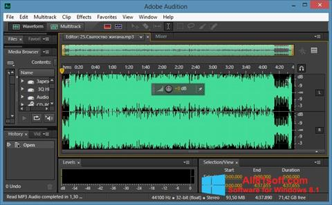 স্ক্রিনশট Adobe Audition CC Windows 8.1