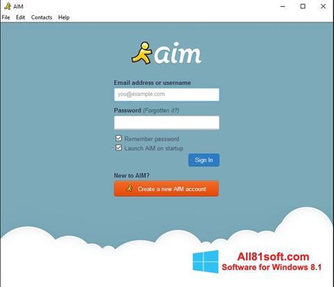 স্ক্রিনশট AOL Instant Messenger Windows 8.1