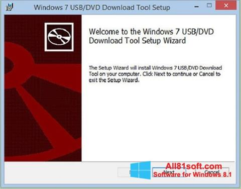 স্ক্রিনশট Windows 7 USB DVD Download Tool Windows 8.1