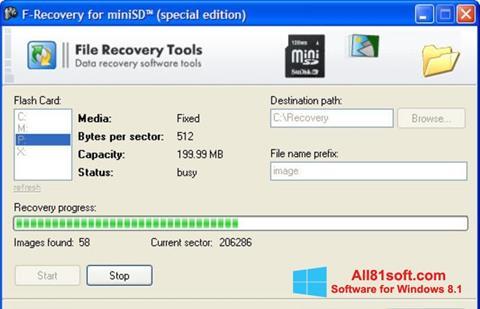 স্ক্রিনশট F-Recovery SD Windows 8.1