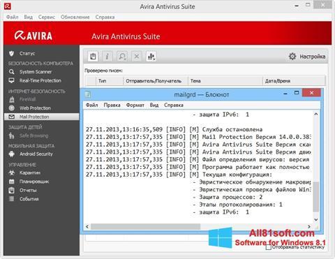 স্ক্রিনশট Avira Windows 8.1