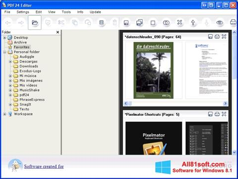 স্ক্রিনশট PDF24 Creator Windows 8.1