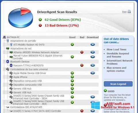 স্ক্রিনশট DriverAgent Windows 8.1