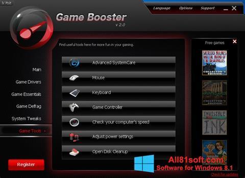 স্ক্রিনশট Game Booster Windows 8.1