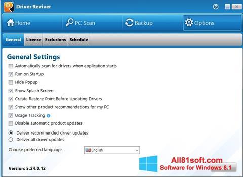 স্ক্রিনশট Driver Reviver Windows 8.1
