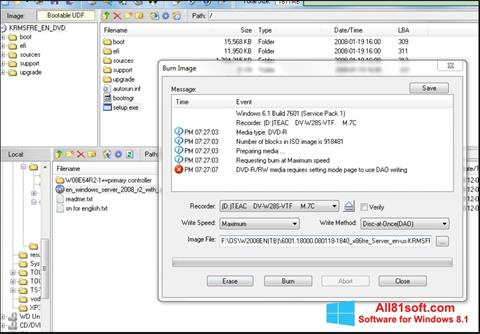 স্ক্রিনশট UltraISO Windows 8.1