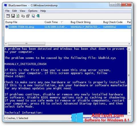 স্ক্রিনশট BlueScreenView Windows 8.1