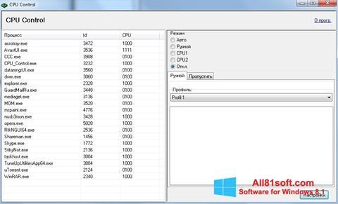 স্ক্রিনশট CPU-Control Windows 8.1