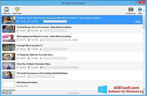 স্ক্রিনশট 4K Video Downloader Windows 8.1
