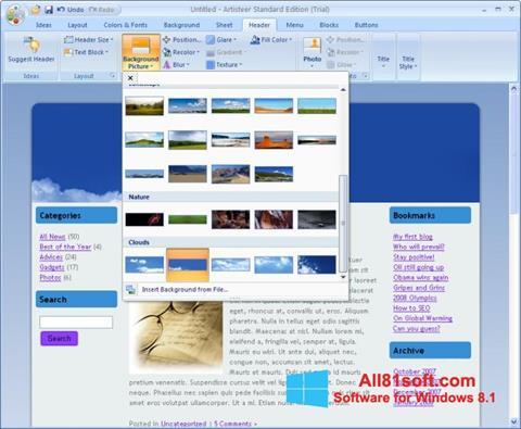 স্ক্রিনশট Artisteer Windows 8.1