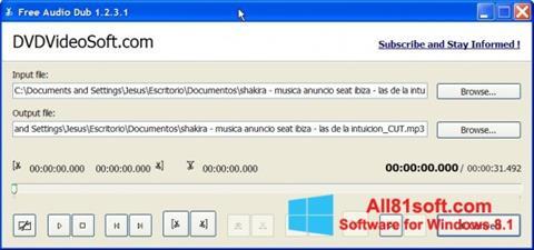 স্ক্রিনশট Free Audio Dub Windows 8.1