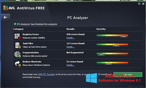 স্ক্রিনশট AVG AntiVirus Free Windows 8.1