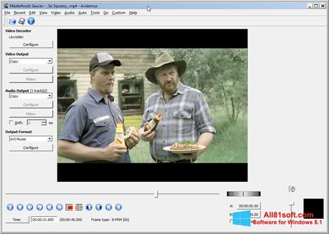 স্ক্রিনশট Avidemux Windows 8.1