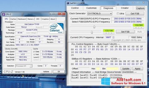 স্ক্রিনশট SetFSB Windows 8.1
