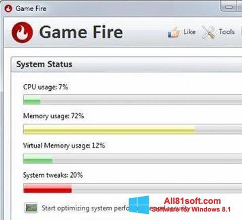 স্ক্রিনশট Game Fire Windows 8.1