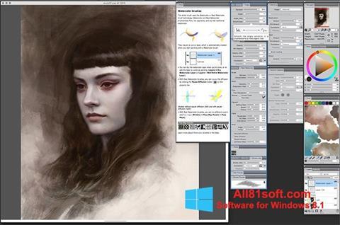 স্ক্রিনশট Corel Painter Windows 8.1
