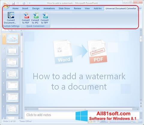 স্ক্রিনশট Microsoft PowerPoint Windows 8.1