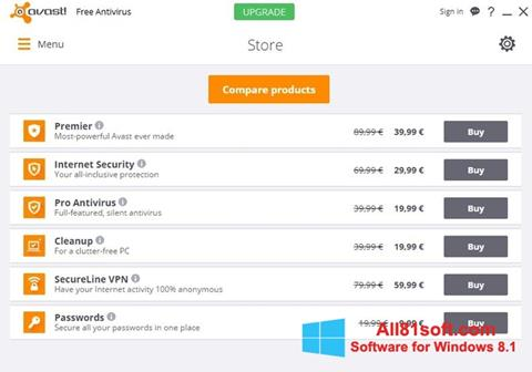 স্ক্রিনশট Avast Free Antivirus Windows 8.1