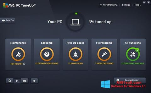 স্ক্রিনশট AVG PC Tuneup Windows 8.1