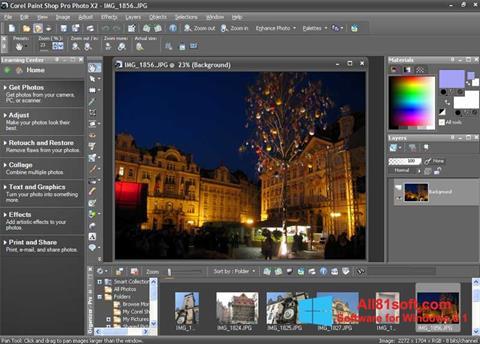 স্ক্রিনশট PaintShop Pro Windows 8.1