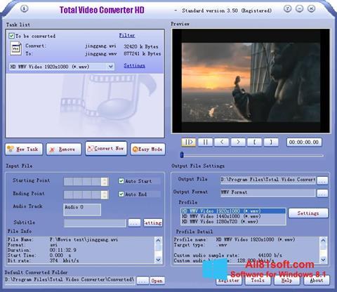 স্ক্রিনশট Total Video Converter Windows 8.1