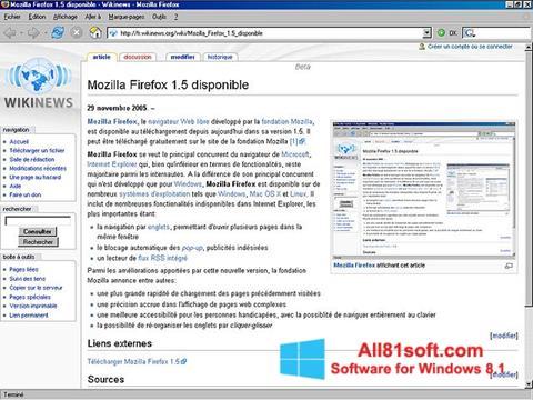 স্ক্রিনশট Mozilla Firefox Windows 8.1