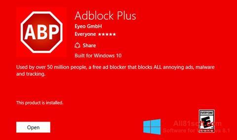 স্ক্রিনশট Adblock Plus Windows 8.1