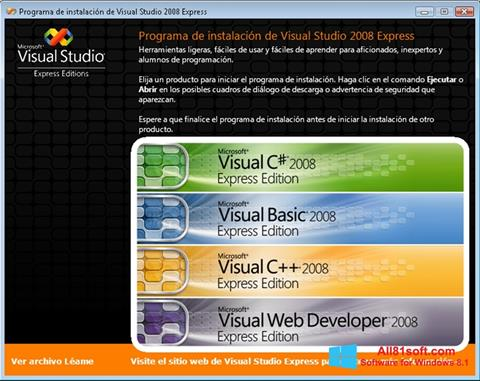 স্ক্রিনশট Microsoft Visual Studio Windows 8.1