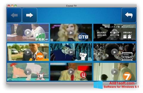 স্ক্রিনশট Crystal TV Windows 8.1