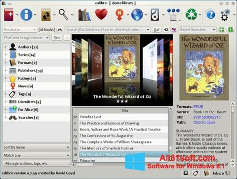 স্ক্রিনশট Calibre Windows 8.1