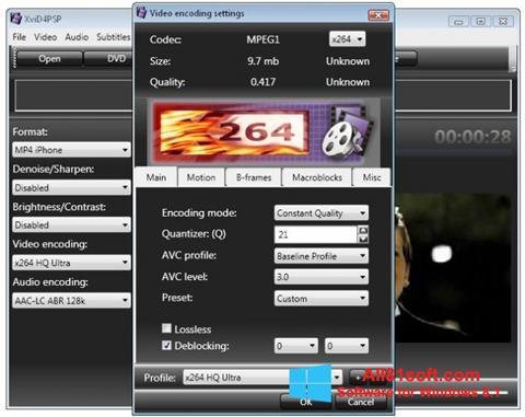 স্ক্রিনশট XviD4PSP Windows 8.1