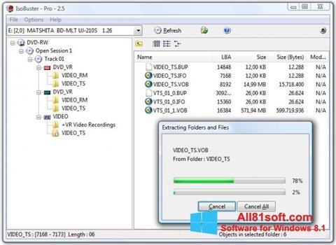 স্ক্রিনশট IsoBuster Windows 8.1