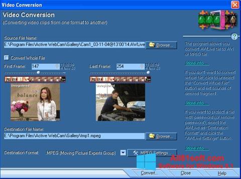 স্ক্রিনশট Active WebCam Windows 8.1