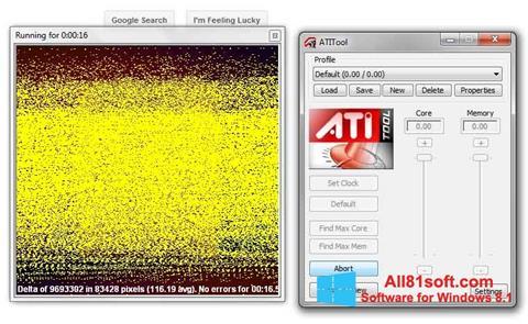 স্ক্রিনশট ATITool Windows 8.1