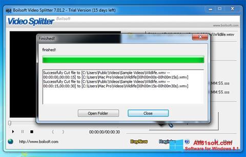 স্ক্রিনশট Boilsoft Video Splitter Windows 8.1