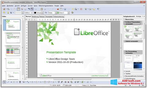 স্ক্রিনশট LibreOffice Windows 8.1