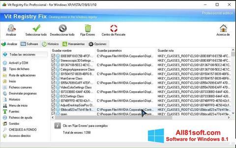 স্ক্রিনশট Vit Registry Fix Windows 8.1