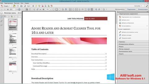 স্ক্রিনশট Adobe Acrobat Pro Windows 8.1