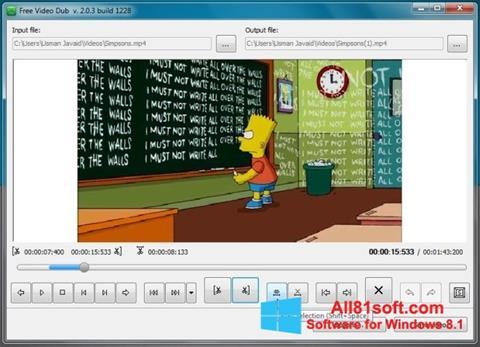 স্ক্রিনশট Free Video Dub Windows 8.1