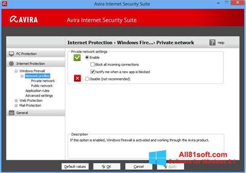 স্ক্রিনশট Avira Internet Security Windows 8.1