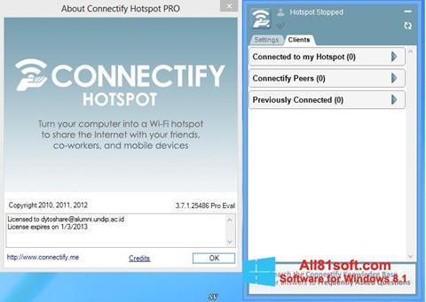 স্ক্রিনশট Connectify Hotspot Windows 8.1