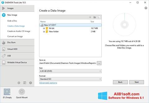 স্ক্রিনশট DAEMON Tools Lite Windows 8.1
