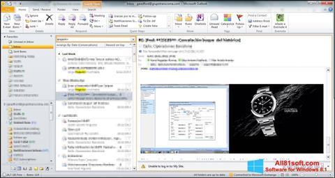 স্ক্রিনশট Microsoft Outlook Windows 8.1