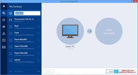 স্ক্রিনশট Acronis True Image Windows 8.1