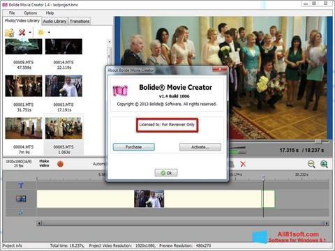 স্ক্রিনশট Bolide Movie Creator Windows 8.1