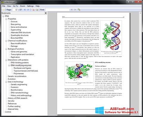 স্ক্রিনশট Sumatra PDF Windows 8.1