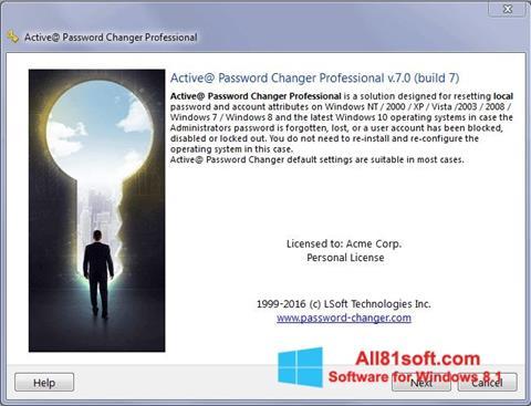 স্ক্রিনশট Active Password Changer Windows 8.1