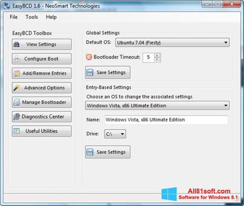 স্ক্রিনশট EasyBCD Windows 8.1
